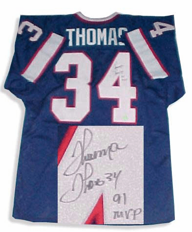 Thurman Thomas Authentic Autographed NFL Throwback Jersey