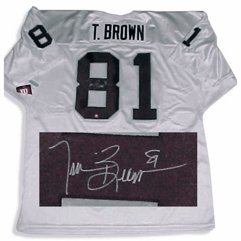 Tim Brown Oakland Raiders Authentic Autographed NFL Wilson Jersey