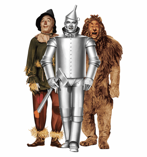 Tinman, Lion and Scarecrow Wizard of Oz 75th Anniversary Cardboard Cutout