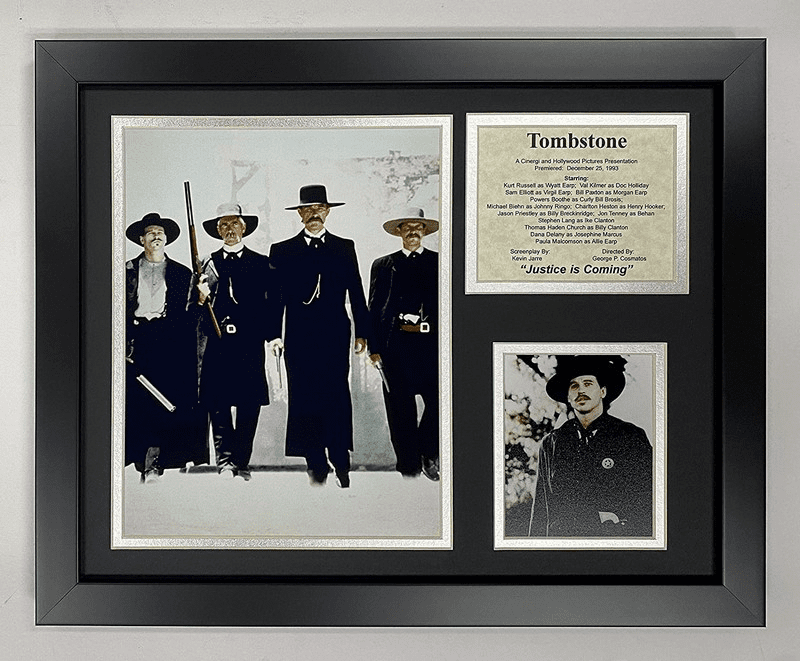 "Tombstone 12""x15"" Framed Photo Collage"