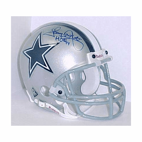 Tony Dorsett Dallas Cowboys Authentic Autographed Mini Helmet