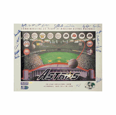 Tri-Star 3000 Strikeout Club Texas Rangers Autographed Poster