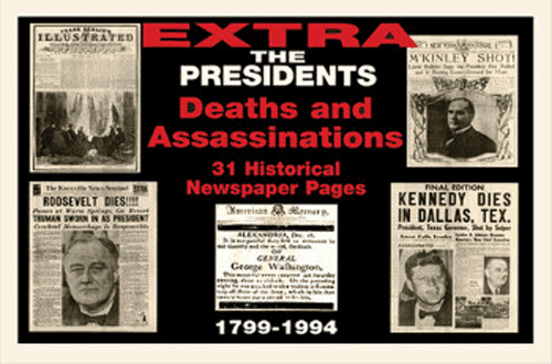 Us Presidents Newspaper Compilation Deaths & Assassinations