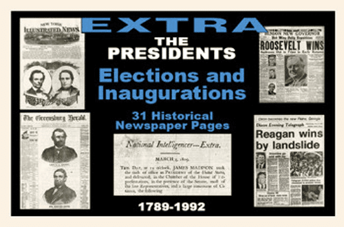 Us Presidents Newspaper Compilation Elections & Inaugurations