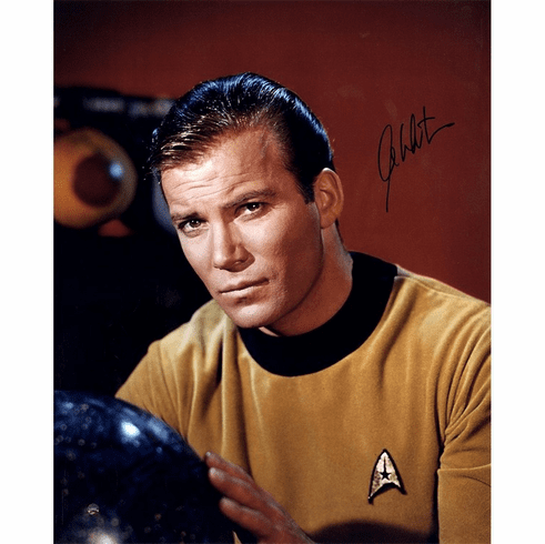 William Shatner Signed Star Trek Close Up View 16x20 Photo