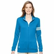 Adidas Golf Ladie's Climalite 3-Stripes Full-Zip Jacket