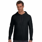 Anvil Lightweight Long-Sleeve Hooded T-Shirt