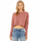 Bella Canvas Ladies Cropped Fleece Crew