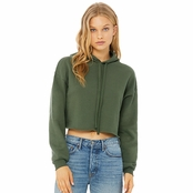 Bella Canvas Ladies Cropped Fleece Hoodie