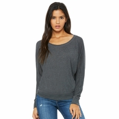 Bella Canvas Ladies Long Sleeve Off The Shoulder Top