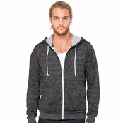 Bella Canvas Unisex Poly-Cotton Fleece Full-Zip Hoodie