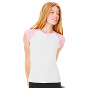 Bella Canvas Ladie's Cap Sleeve Raglan Tee