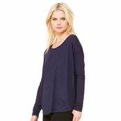 Bella Canvas Ladie's Flowy Long-Sleeve T-Shirt with 2x1 Sleeves