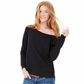 Bella Canvas Ladie's Triblend Sponge Fleece Wide Neck Sweatshirt