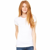Bella Canvas Ladies Baby Rib Crew Neck Tee