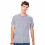 Bella Canvas Men's Triblend Short-Sleeve Henley