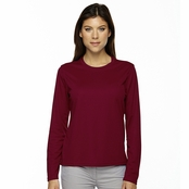 Core 365 Agility Ladie's Performance Long Sleeve Pique Crew Neck