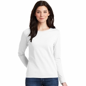 Gildan Ladies Long Sleeve 100% Cotton T-Shirt