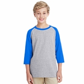 Gildan Youth Heavy Cotton 3/4-Raglan Sleeve T-Shirt