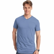 Hanes 4.5 oz. 100% Ringspun Cotton Nano-T V-Neck T-Shirt