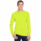 Hanes Workwear Long-Sleeve Pocket T-Shirt