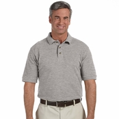 Harriton Tall Ringspun Cotton Pique Short-Sleeve Polo