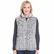 J America Ladies Epic Sherpa Vest
