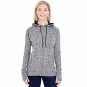 J America Ladies Cosmic Contrast Fleece Hood