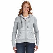 J America Ladies Zen Full-Zip Fleece Hoodie
