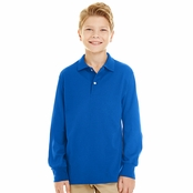 Jerzees Youth Long Sleeve Polo Shirt