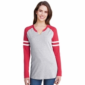 LAT Ladies Gameday Mash-Up Long Sleeve T-Shirt