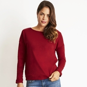 Next Level Ladie's Terry Long-Sleeve Scoop Tee