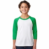 Next Level Youth CVC 3/4-Sleeve Raglan Tee