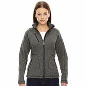 North End Sport Red Peak Ladie's Sweater Fleece Jacket