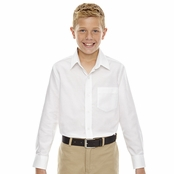 North End Windsor Youth Long Sleeve Oxford Shirt