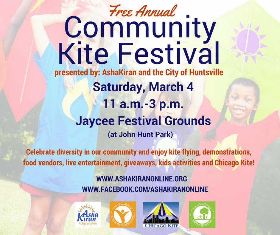 Community Kite Festival  Huntsville Alabama  March 7th 2020