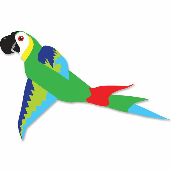 Mega Macaw Kite - Green & Blue