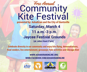 Community Kite Festival  Huntsville Alabama  March 3rd 2018
