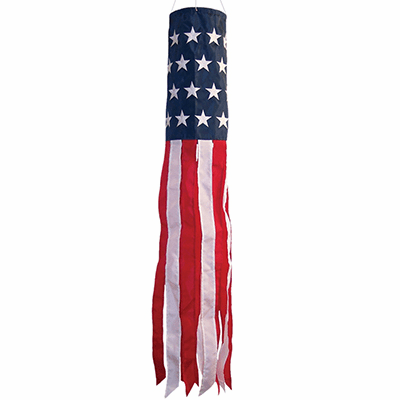 "U.S. Stars and Stripes Printed 40"" Windsock"