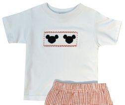Anavini Mickey Mouse Smocked Shorts Set