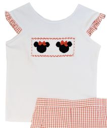 Anavini Minnie Mouse Red Gingham Shorts Set