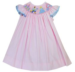 Anavini Smocked Cinderella, Prince, Carriage and Castle Dress