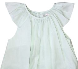 Petit Ami Baby Girl's Mint Green Small Check Bubble