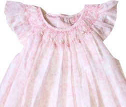 Petit Ami Baby Girl's Pink Princesses Voile Overlay Dress and Bloomers