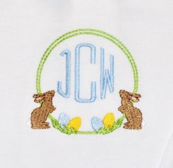 Boy's Monogrammed Bunny Rabbit Polo Shirt, Polo and Shorts or Pants