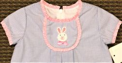Claire & Charlie Bunny Rabbit Tab Blue Dress Perfect for Easter