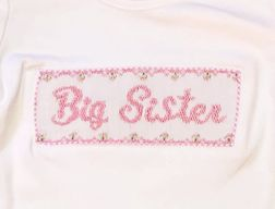 Claire & Charlie Smocked Big Sister Shirt and Shorts Outfit