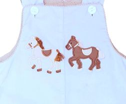 Reversible Horses Ponies Boy Longall | Claire & Charlie | Children's Cottage