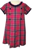 Claire & Charlie Holiday Hot Pink and Navy Plaid Dress