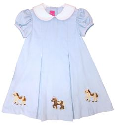 Applique Horses Ponies Dress | Claire & Charlie | Children's Cottage